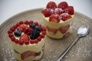 Κρέμα Βανίλιας με Φράουλες & Φρούτα του Δάσους