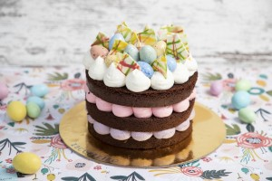 Colorful Easter Chocolate Cake