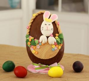 Σοκολατένιο Αυγό με Ζαχαρόπαστα
